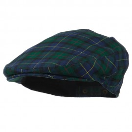 Men's Wool Blend Plaid Ivy Cap