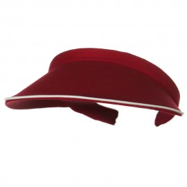 Piping Clip On Visor-Wine