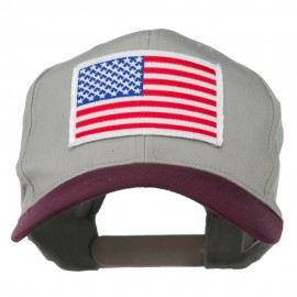 White American Flag Patched Cotton Twill Cap