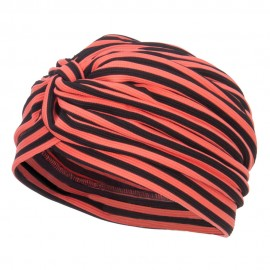 Women's Striped Turban Hat