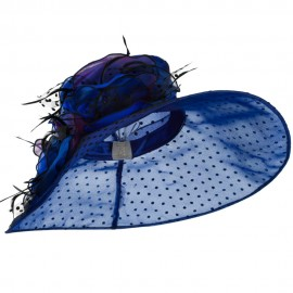 Polka Dot Designed Flower Detailed Organza Hat