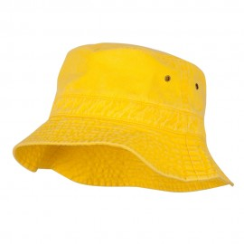 Pigment Dyed Bucket Hat-Yellow