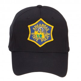 Arkansas State Police Patched Cap - Black