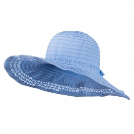 5 Inch Perforated Edge Brim Hat