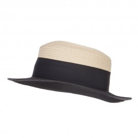 Pork Pie Straw Boater Hat