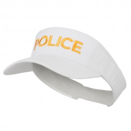 Police Embroidered Superior Garment Washed Visor