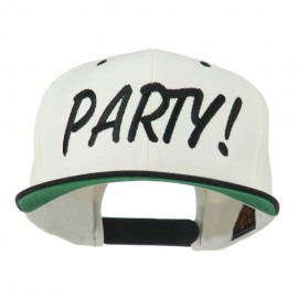 Flat Bill Party Embroidered Cap
