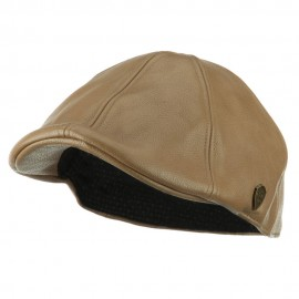 Pamoa Faux Leather Duckbill Ivy Hat - Beige