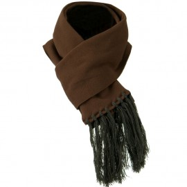 Non Pilling Micro Fleece Scarf - Dark Brown