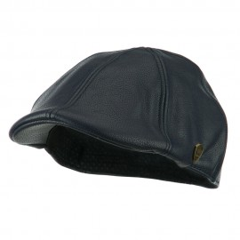 Pamoa Faux Leather Duckbill Ivy Hat - Navy