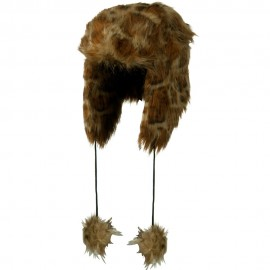 Woman's Animal Print Faux Fur Tropper Hat