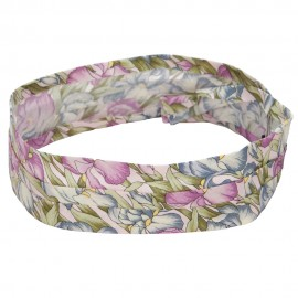 Pleated Fabric Print Hat Band - J Lily Flowers