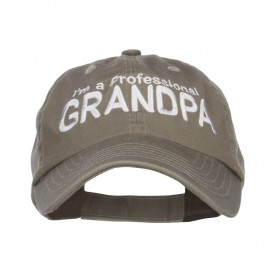 I'm a Professional Grandpa Embroidered Low Cap