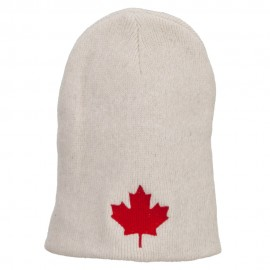 Canada Maple Leaf Embroidered ECO Cotton Beanie