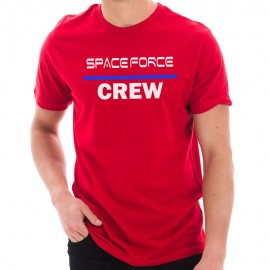 NASA Space Force Crew Designed Short Sleeve Cotton Jersey T-Shirt