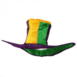 Mardi Gras Poly Tallhat 2 points on Hat