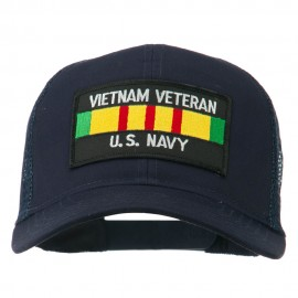 Vietnam Navy Veteran Patched Mesh Cap - Navy