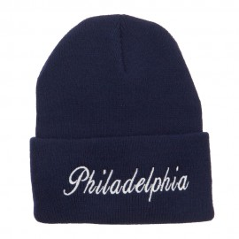 City of Philadelphia Embroidered Long Beanie
