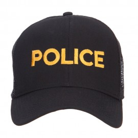 Police Embroidered Mesh Cap