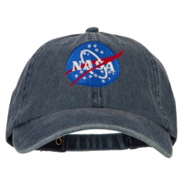 NASA Insignia Embroidered Big Size Washed Cap