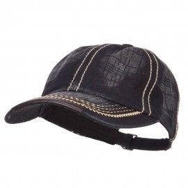 Leather Peak Trim Stitched Cap