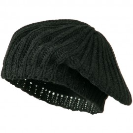 Plain Knit Beret - Grey