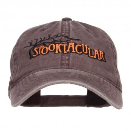Spooktacular Embroidery Washed Cap