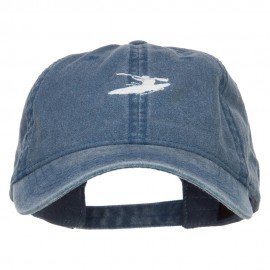 Mini Sports Kayak Embroidered Washed Cap - Navy