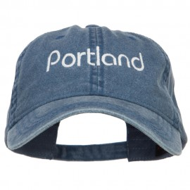 Portland Embroidered Washed Buckled Cap