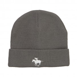 Polo Player Sports Embroidered Big Beanie
