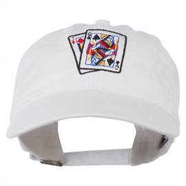 Gaming Pinochle Embroidered Washed Cap