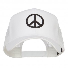 Peace Symbol Embroidered Mesh Cap