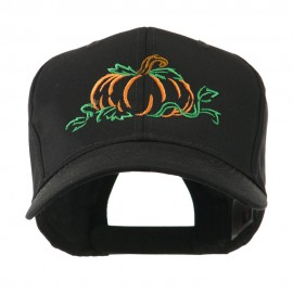 Halloween Pumpkin Outline Embroidered Cap