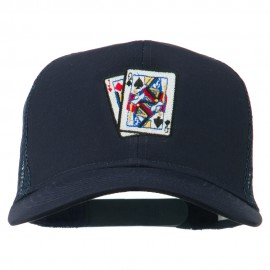 Gaming Pinochle Embroidered Mesh Cap