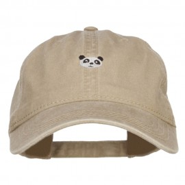 Mini Panda Embroidered Washed Cap