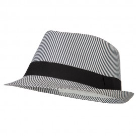 Kid's Striped Polyester Fedora Hat