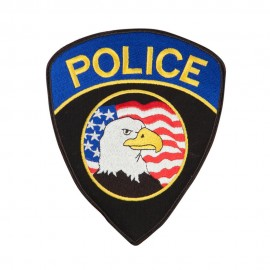 Police Shield Eagle Flag Patch