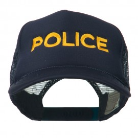 Youth Police Embroidered Foam Mesh Back Cap