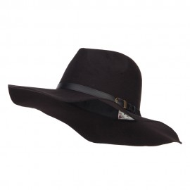 Polyester Panama Hat with Buckle Band