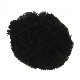 Pom Pom Yarn Alligator Clip - Black