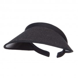 Toyo Braid Clip On Paper Visor - Black