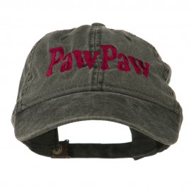 Wording of PawPaw Embroidered Washed Cap - Black