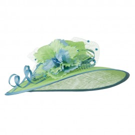 Two Tone Paper Flower Sinamay Hat