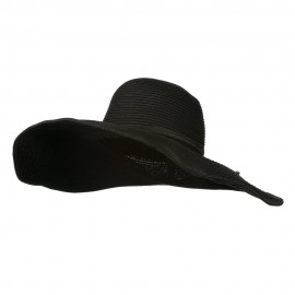 Woman's UPF 50+ Paper Straw Wide Brim Hat - Black