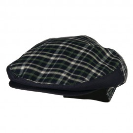 Men's Plaid Snap Button Ivy Cap