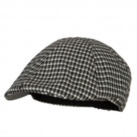 Patterned Houndstooth Classic Ivy Cap
