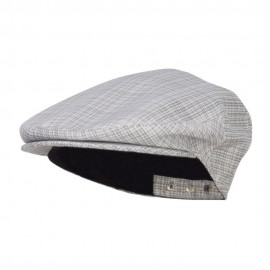 Men's Plaid Snap Back Ivy Cap - Grey