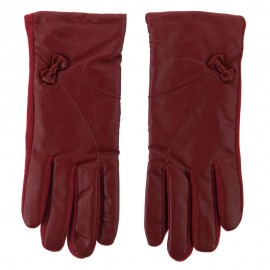 Women's Pleather Wool Texting Glove