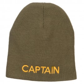 Captain Embroidered Short Beanie