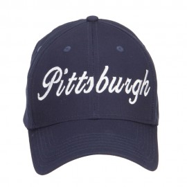 City of Pittsburgh Embroidered Cotton Cap - Navy